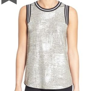 NWT Trouve silver tank in size small